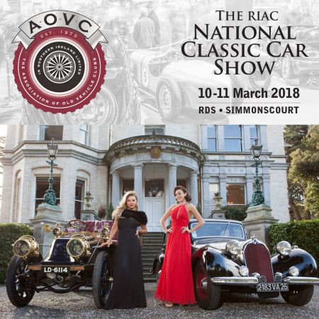 AOVC Stand at RIAC National Classic Car Show, RDS Dublin 10th & 11 March 2018